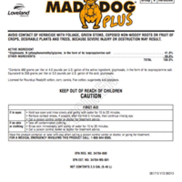 Mad Dog Plus (glyphosate)