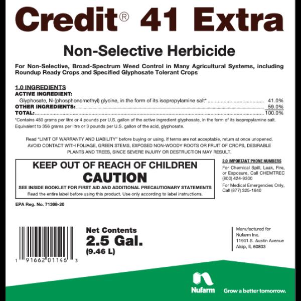 Credit 41 (glyphosate) - Weed Killer