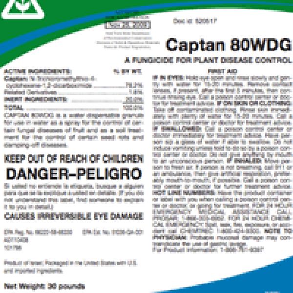 Captan 80WDG (captan)