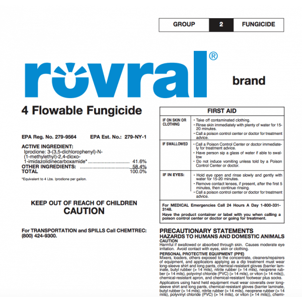 Rovral Brand 4 Flowable Fungicide (iprodione)