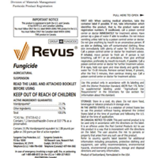 Revus Fungicide (mandipropamid)